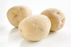 Potatoes on a white background Royalty Free Stock Photography