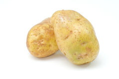Potatoes on white background Stock Photography