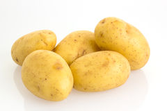 Potatoes  on white background Stock Images