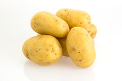 Potatoes  on white background Royalty Free Stock Photos