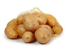 Potatoes. On white background royalty free stock images