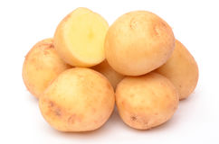 Potatoes. On a white background Stock Photography