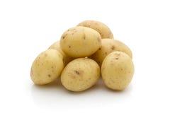 Potatoes on the white background.  New harvest. Stock Photos