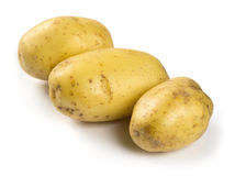 Potatoes on white background Stock Image