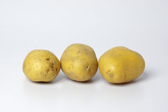 Potatoes  on White Royalty Free Stock Images