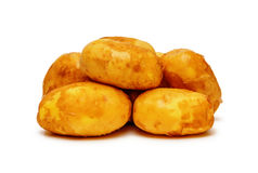 Potatoes  on white Stock Photography