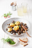 Potatoes with wild mushrooms Royalty Free Stock Photos