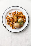 Potatoes with wild mushrooms Stock Photography