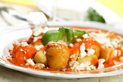 Potatoes With Cottage Cheese Royalty Free Stock Images