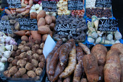 Potatoes and yams Royalty Free Stock Photos