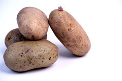 Potatos. A potatos on the table royalty free stock photography