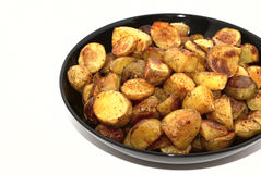 Potatos. Fried potatos isolated on white background Stock Image