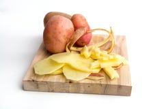 Potatos. Batatas. Potatos, chips, fresh cut potatos Royalty Free Stock Photography