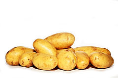 Potatos. Image of potatos on a table Stock Image