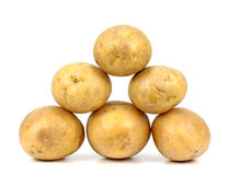 Potatos isolated on white background close up.  Royalty Free Stock Photos