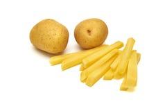 Potatos op witte achtergrond Royalty-vrije Stock Afbeeldingen