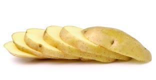Potatos Slice   on white background Stock Photo