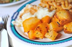 Potatos with spices and seasoning Stock Photography