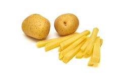 Potatos sur le fond blanc Images libres de droits