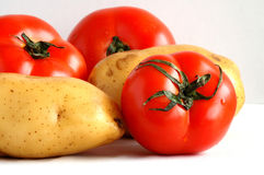 Potatos and tomatoes Royalty Free Stock Photography