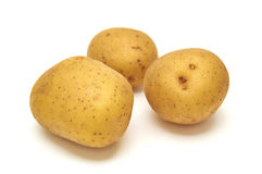 Potatos on white Royalty Free Stock Images