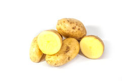 Potatos. On a white background Can be used in graphics Stock Photos