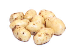 Potatos on white background. Raw potatos vegetable on white background Stock Photo