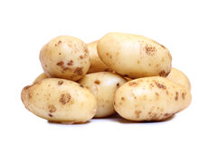 Potatos on white. Raw potatos vegetable on white background Royalty Free Stock Photography