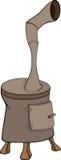 Potbelly stove cartoon Stock Image