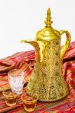 Pote árabe del café Imagen de archivo libre de regalías