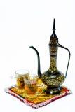 Pote árabe del café Fotografía de archivo