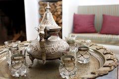 Pote árabe del té Foto de archivo libre de regalías
