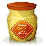 Pote amarillo de la mostaza Imágenes de archivo libres de regalías