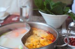 Pote caliente en un restaurante chino Fotografía de archivo