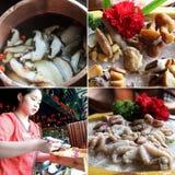 Pote de alimentación chino Imagen de archivo libre de regalías