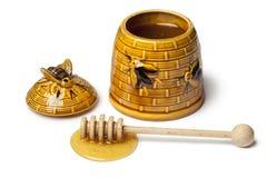 Pote de cerámica clásico de la miel Imagen de archivo