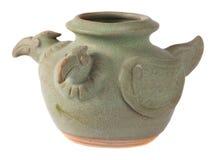Pote de cerámica esmaltado Imagen de archivo