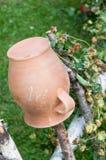 Pote de cerámica, forma de vida del país Fotos de archivo