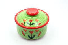 Pote de cerámica verde Imagen de archivo libre de regalías