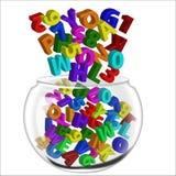 Pote de los alfabetos y de los números libre illustration