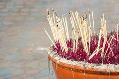 Pote del palillo de ídolo chino Foto de archivo libre de regalías