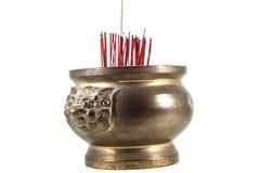 Pote del palillo de ídolo chino Fotografía de archivo