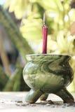 Pote del palillo de ídolo chino Fotos de archivo