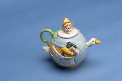 Pote del té de la mamá ganso Imagenes de archivo