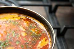 Pote fresco de la sopa Imagen de archivo libre de regalías
