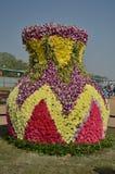 Pote grande hecho de las flores Imagen de archivo