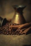 Pote oriental del café del vintage Fotos de archivo