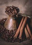 Pote oriental del café del vintage Fotografía de archivo libre de regalías