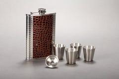 Pote plegable de acero del vino imagen de archivo libre de regalías