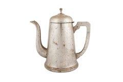 Pote viejo del café del vintage aislado en el fondo blanco Imagen de archivo